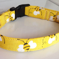 Yellow Bumble Bee Collar for Dog or Cat