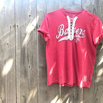 Wisconsin Badgers Lace Up Tee, Lace Up Shirt, Badgers Shirt