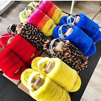 Bunchsun UGG Tide brand plush versatile slippers shoes