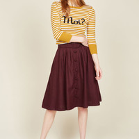 Intern of Fate Skirt in Burgundy