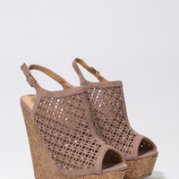 Feel Your Pane Faux Cork Wedges GoJane.com