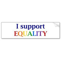 Support Equality Bumper Sticker from Zazzle.com