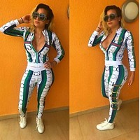GUCCI Fashion Women Long Sleeve Top Pants Trousers Set Two-Piece