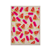 """Sreetama Ray """"Strawberry & Watermelon"""" Pink Red KESS Naturals Canvas (Frame not Included)"""