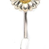 Belly Button Ring Navel Split Sun Flower 316L surgical steel Body Jewelry
