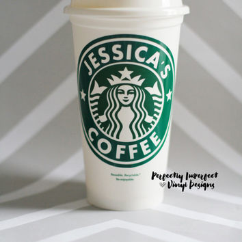 Personalized Starbucks Cup//Reusuable Starbucks Cup//Personalized Travel Coffee Mug//Travel Mug
