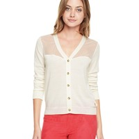 Embroidered Tulle Mix Cardigan by Juicy Couture