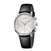 Calvin Klein Mens Chronograph Quartz Watch with Leather Strap K8Q371C6