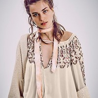 Free People Womens Embellished Border Top