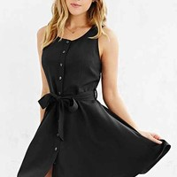Cooperative Button-Front Tied Waist