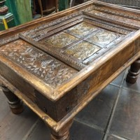 Jaipur Furniture Castle Traditional Antique Old Door Coffee Table India Furniture: Amazon.com: Home & Garden