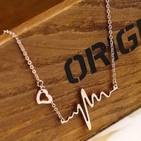 Fashion ECG necklace