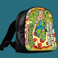TMNT ninja turtle say yes to pizza for Backpack / Custom Bag / School Bag / Children Bag / Custom School Bag *
