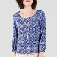 Sinclair Printed Blouse