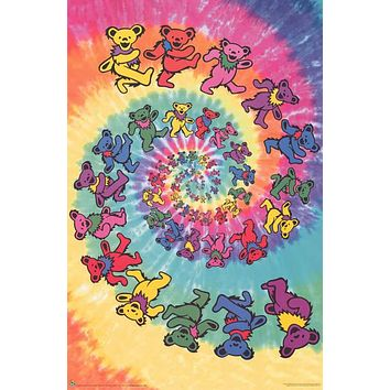 Grateful Dead Dancing Bears Swirl Poster 24x36