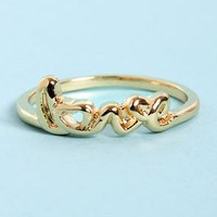 Be Mine Gold Love Ring