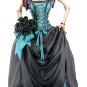 Gothic Bride Skeleton Day of the Dead Statue