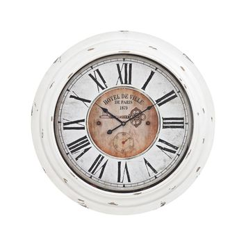 Theodore Wall Clock In Antique White Antique White