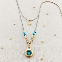 """FRENCH POLYNESIA"" LAYERED LOCKET NECKLACE"