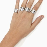 Stacked Rings - Silver
