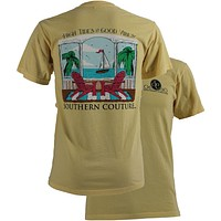 SALE Southern Couture Comfort Color High Tide Beach Bright T-Shirt