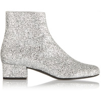 Saint Laurent - Glitter-finished ankle boots