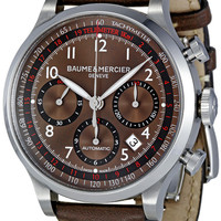 Baume and Mercier Capeland Brown Dial Chronograph Mens Watch 10002