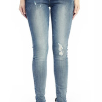 Kan Can Skinny Jeans-Light Wash