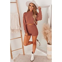 Let's Snuggle Knitted Two Piece (Amber)