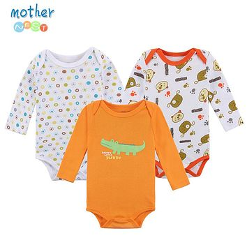 Nest Baby Romper Long Sleeves Winter Cartoon Animal Printed Baby Boy Clothes Autumn Winter Baby Clothing