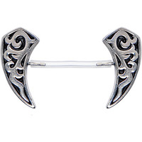 Invisible Bioplast Sterling Tribal Apex Nipple Shield | Body Candy Body Jewelry
