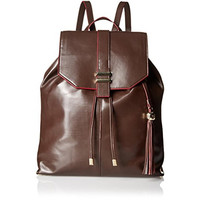 Dolce Vita Womens Leather Contrast Edge Backpack