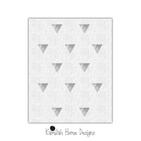 Gray Triangles pattern, digital print, wall art print, printable wall art, triangles print, affiche scandinave, triangles printable poster.