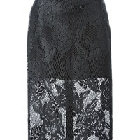 MSGM layered lace skirt