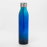 20oz Venti Air Transfer Stainless Steel Portable Water Bottle Black/Blue Ombre - Room Essentials™