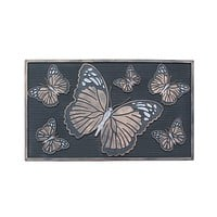 Butterfly Rubber Pin Doormat