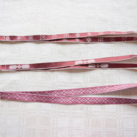 Lanyard / ID / badge holder with Latvian folkloric ornaments / latvian design / gift / favor bag