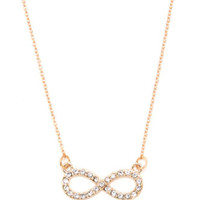 With Love From CA Pave Infinity Necklace at PacSun.com