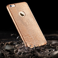 Luxury Crocodile Snake electroplate soft TPU Back Cover for Apple iphone 6 6s 6 Plus 6s Plus phone cases for iPhone 6S