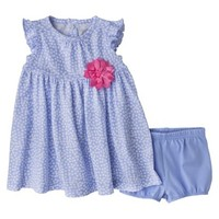 Just One You™Made by Carter's® Newborn Girls' Dress Set - Light Blue/White