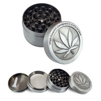 Leaf Metal Herb Grinder - 4 Parts