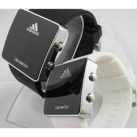 ADIDAS LED Electronic Watch Stainless Steel Digital Watch