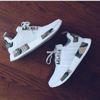 Adidas  NMD White CONTRAST CAMOUFLAGE GREEN Fashion Men Running Sport Casual Shoes Sneakers G-AA-SDDSL-KHZHXMKH