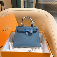 Hermes Women Leather Shoulder Bags Satchel Tote Bag Handbag Shopping Leather Crossbody
