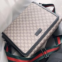 Hipgirls GUCCI Fashion New More Letter Leather Shopping Leisure Shoulder Bag Crossbody Bag Khaki