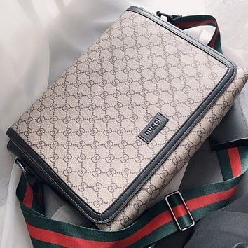GUCCI Fashion New More Letter Leather Shopping Leisure Shoulder Bag Crossbody Bag Khaki