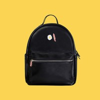 Bacon/Egg PU Leather Backpack