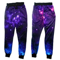 women joggers pants 3D graphic galaxy space sport running sweat pant