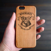 Harry Port School Badge Cherry Wood One Piece iPhone 6 6s Case , Personalized Wood Phone Case for iPhone 6 6s , iPhone 6 6s Case Wood