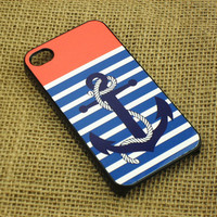 iphone 4 case --Anchor, iphone 4s case,in durable plastic case or silicone rubber case